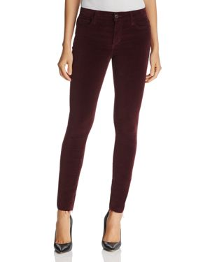 Joe's Jeans The Icon Ankle Velvet Jeans in Merlot 2698045