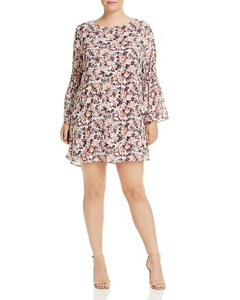 B Collection by Bobeau Curvy - Jude Bell Sleeve Floral Print Dress
