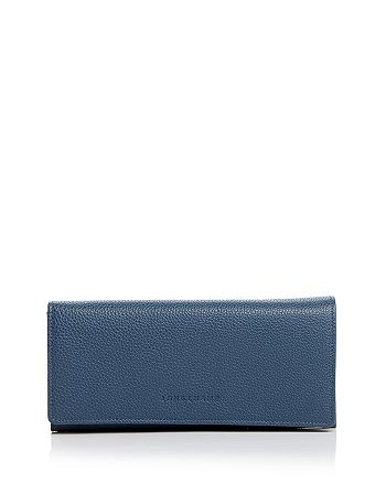 Longchamp Veau Foulonne Checkbook Wallet | Bloomingdale's