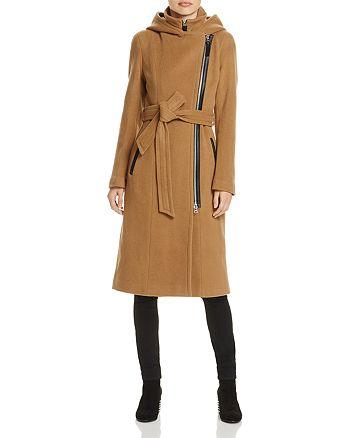 Mackage - Janya Leather Trim Belted Coat