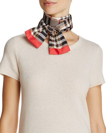 Burberry - Castleford Check Silk Scarf