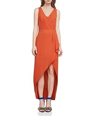 Bcbgmaxazria Tobyn Asymmetric Faux-Wrap Dress