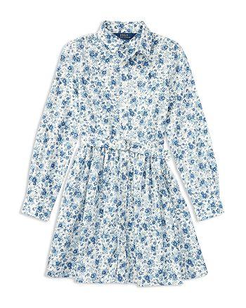 01e93ec538b Ralph Lauren - Girls  Floral Print Shirt Dress - Big Kid