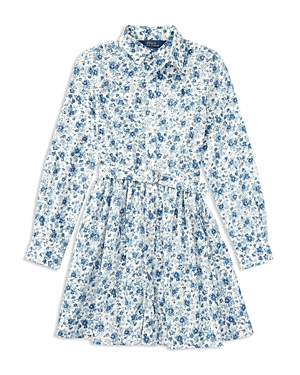 Ralph Lauren Childrenswear Girls Floral Print Shirt Dress  Little Kid