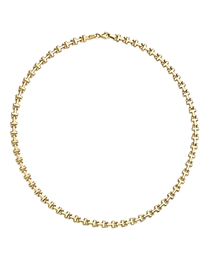 14K Yellow Gold Stampato Link Necklace, 18 - 100% Exclusive