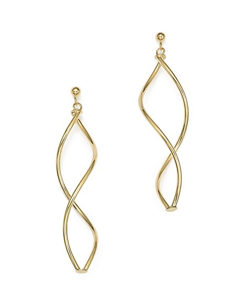 Bloomingdale's - 14K Yellow Gold Double Twisted Drop Earrings - 100% Exclusive