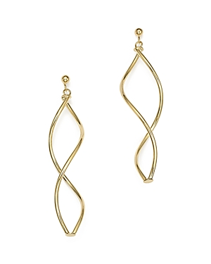 14K Yellow Gold Double Twisted Drop Earrings - 100% Exclusive