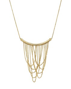 "Bloomingdale's - 14K Yellow Gold Draped Chain Pendant Necklace, 16"" - 100% Exclusive"