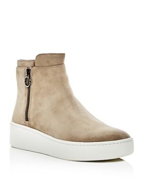 Via Spiga - Women's Easton Suede Platform High Top Sneakers