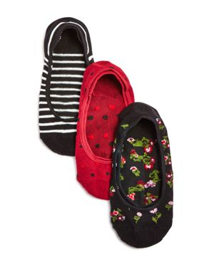 kate spade new york In Bloom No-Show Socks, Set of 3