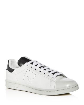 Raf Simons para Adidas hombre 's Stan Smith cuero encaje hasta zapatillas de deporte