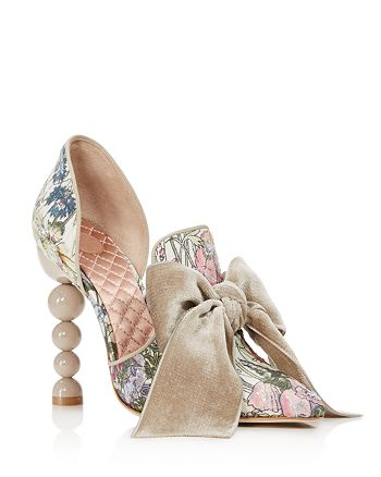 f9ed4e1b2410 Tory Burch Women s Clara Sequined Floral Print High-Heel Pumps ...