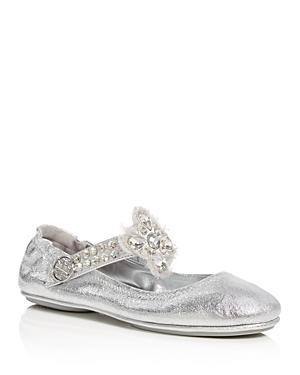 Tory Burch Minnie Embellished Travel Ballet Flats