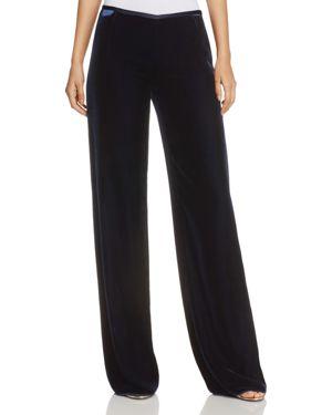 Armani Collezioni Wide-Leg Velvet Pants