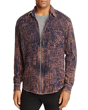 Hudson Cobain Long Sleeve Regular Fit Zip Shirt