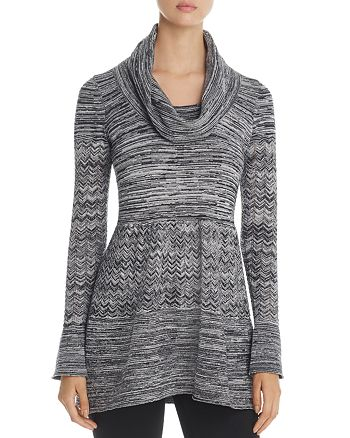 Heather B - Cowl Neck Pointelle Sweater