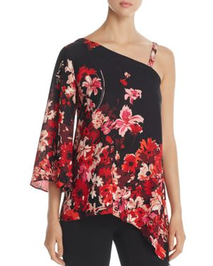 Status by Chenault Asymmetric Floral Print Top