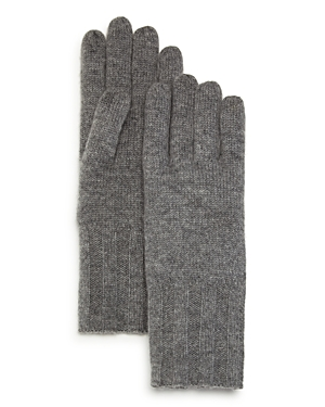 C by Bloomingdale's Ribbed Cashmere Gloves - 100% Exclusive