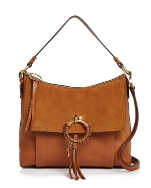 See by Chloe Joan Large Suede & Leather Satchel