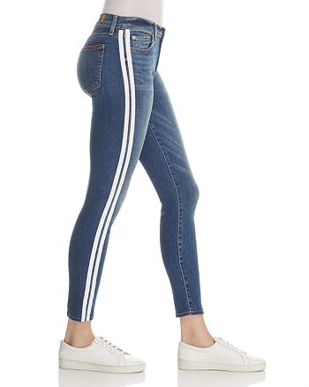 7 For All Mankind - WeWoreWhat X Bloomingdale's The Ankle Skinny Jeans in Serratoga Bay with Stripes - 100% Exclusive