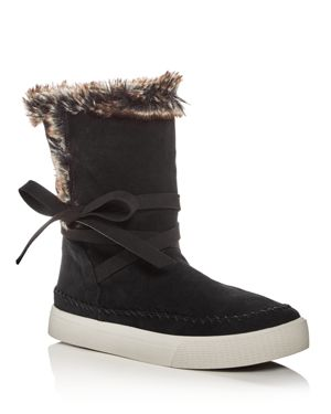 Toms Women's Vista Suede & Faux-Fur Booties