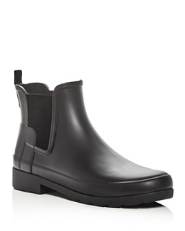 Hunter - Women's Refined Matte Chelsea Rain Booties
