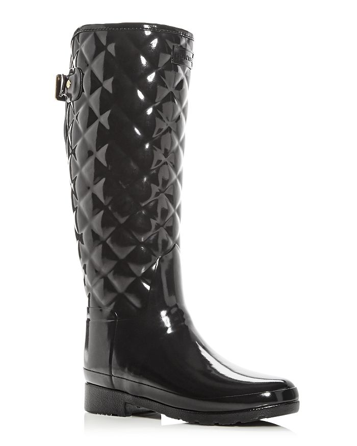 Women's Refined Gloss Quilted Rain Boots