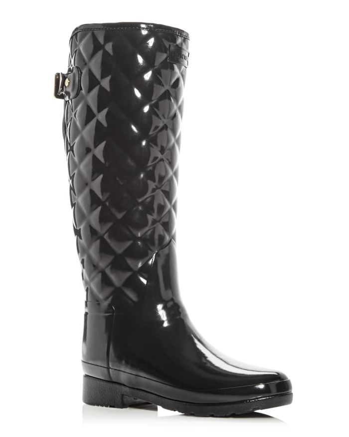 Hunter Women's Refined Gloss Quilted Rain Boots  | Bloomingdale's