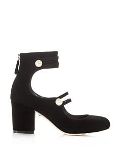 Isa Tapia - Women's Marina Suede Ankle Strap Block Heel Pumps - 100% Exclusive