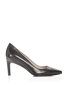 Taryn Rose - Women's Gabriela Leather Pointed Toe Pumps