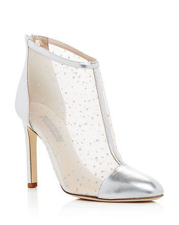 SJP by Sarah Jessica Parker - Women's High Wire Glitter Mesh High-Heel Booties - 100% Exclusive