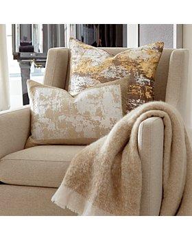 "Michael Aram - Distressed Metallic Lace Decorative Pillow, 14"" x 20"""