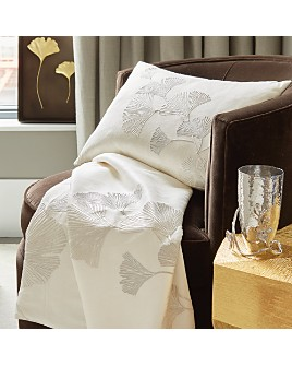 Michael Aram - Ginkgo Leaf Embroidered Throw and Decorative Pillow
