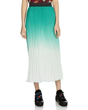 Maje Jonael Pleated Ombre Skirt