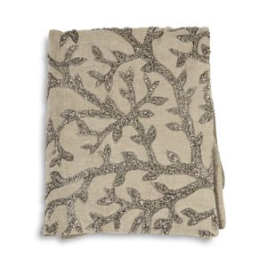 Michael Aram Tree of Life Beaded Linen Throw