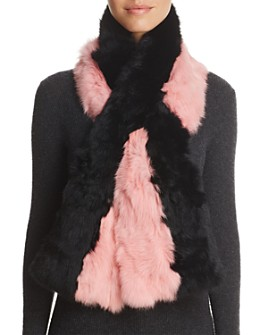 Surell - Pieced Rabbit Fur Scarf - 100% Exclusive