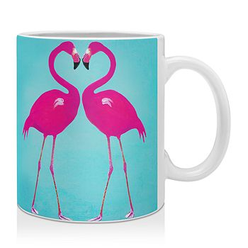 Deny Designs - Coco De Paris Flamingo Heart Mug