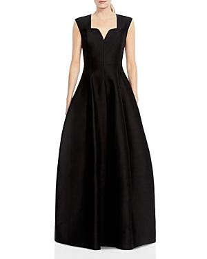 Halston Heritage Cutout-Neck Gown