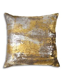 "Michael Aram - Distressed Metallic Velvet Print Decorative Pillow, 20"" x 20"""