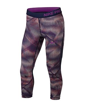 Nike Girls Hypercool Printed Capri Leggings  Big Kid