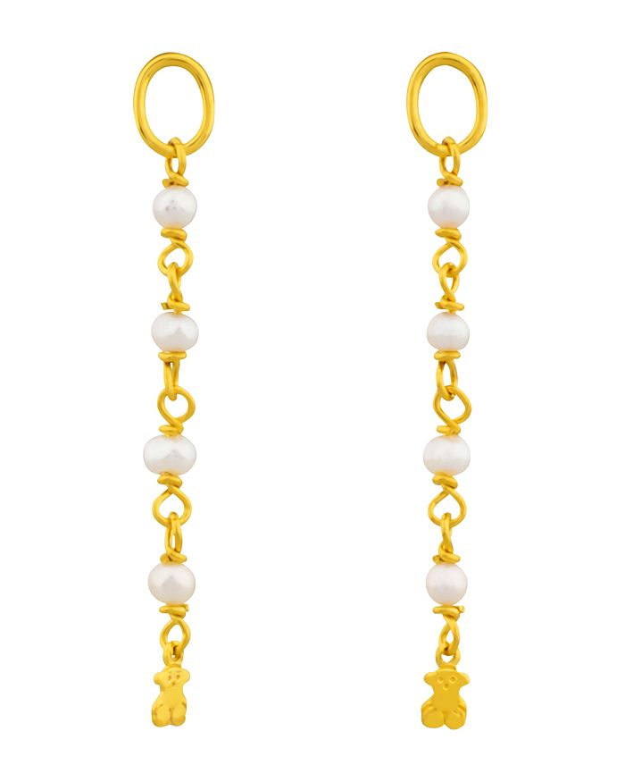 Tous Cultured Freshwater Pearl Earring Extensions In Gold