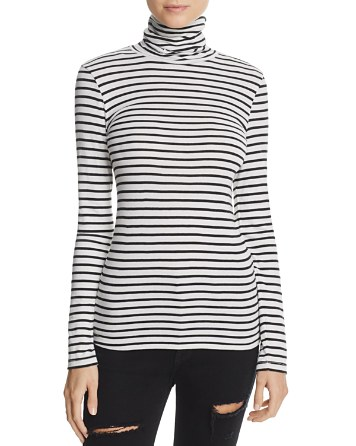 $Splendid Striped Turtleneck Top - Bloomingdale's