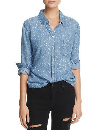 Rails - Ingrid Heart Print Chambray Shirt