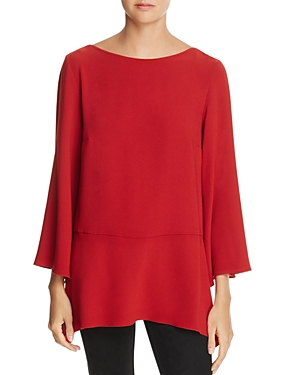 Elizabeth and James Ellis Flared-Sleeve Peplum Top