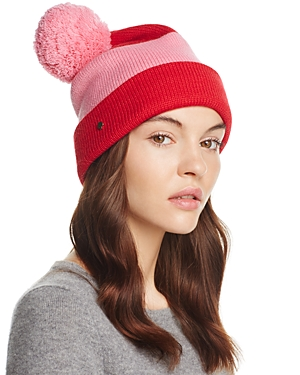 kate spade new york Color Block Pom Beanie