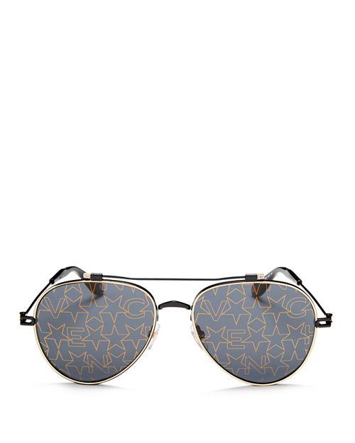 Givenchy - Women's Mirrored Print Aviator Sunglasses, 58mm