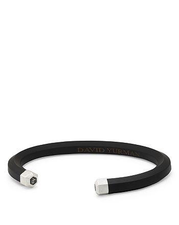 David Yurman - Men's Hex Cuff Bracelet in Black