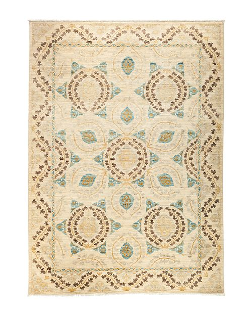 """Solo Rugs - Eclectic Area Rug, 8' 9"""" x 6' 4"""""""