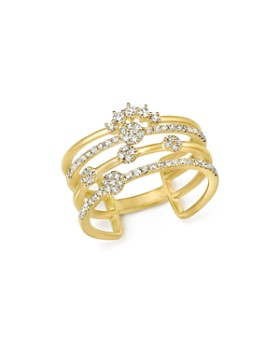 Meira T - 14K Yellow Gold Four Band Diamond Ring
