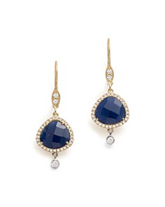 Meira T - 14K White & Yellow Gold Sapphire & Diamond Charm Earrings